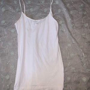 Plain white tank top